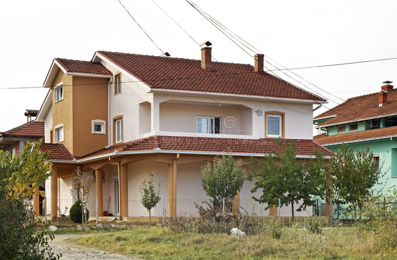 Privé huis in Gevgelija macedonië stock afbeelding