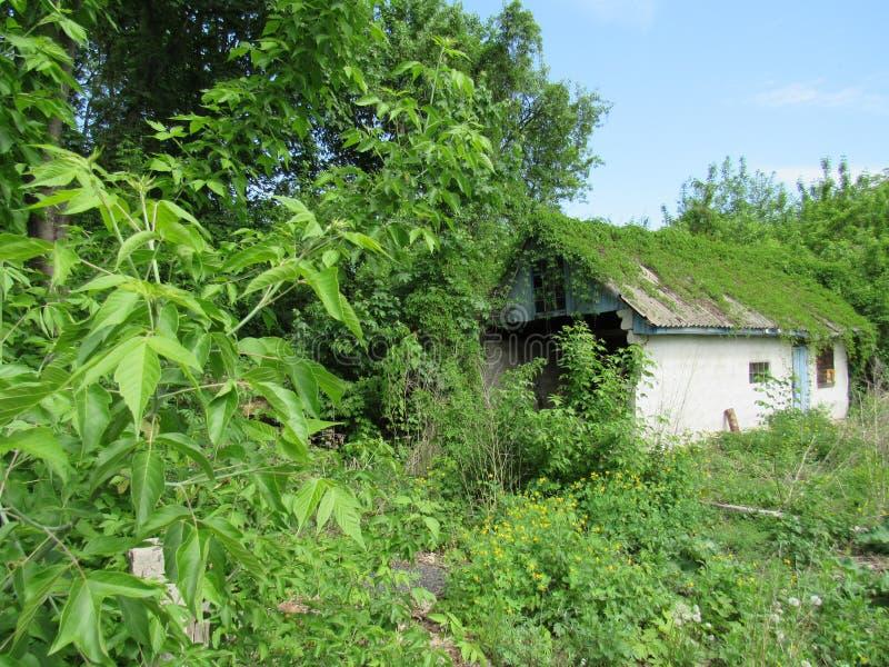 Privé huis in Tchernobyl stock foto