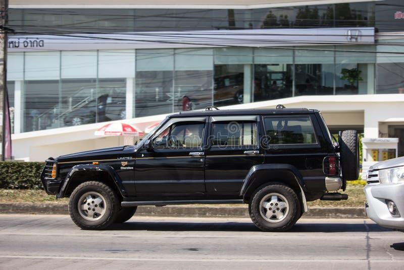 Privé jeep4x4 Cherokee auto royalty-vrije stock afbeelding