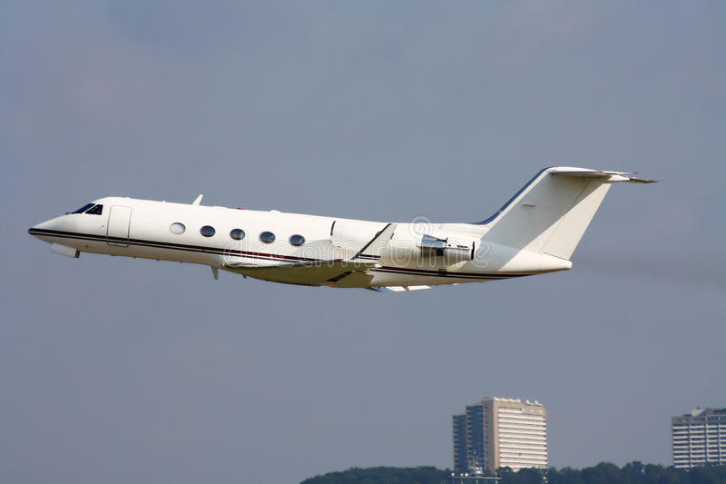 Privé Jet stock foto
