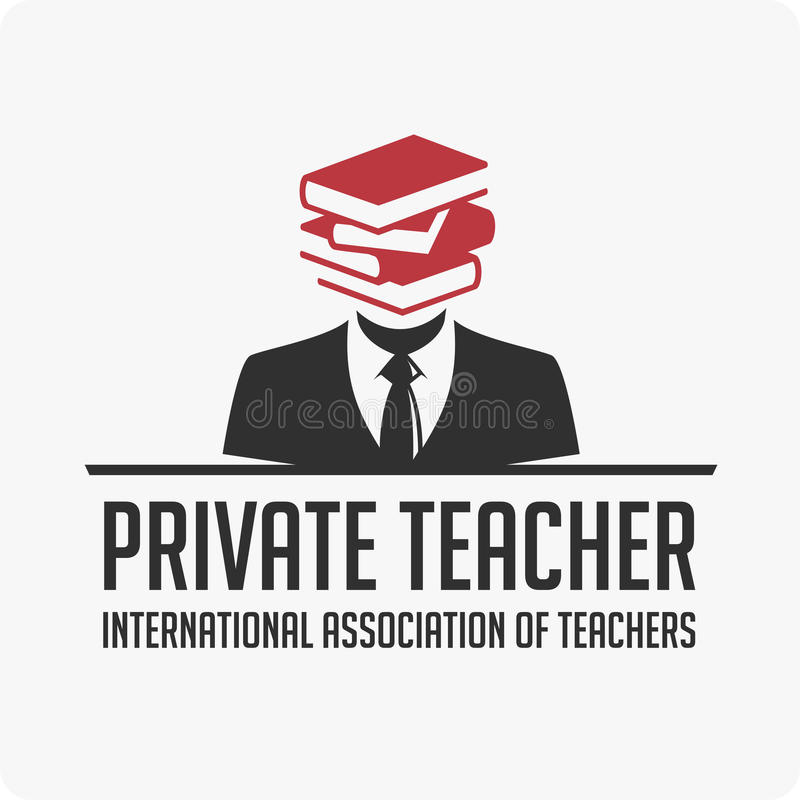 Privé leraarsembleem vector illustratie