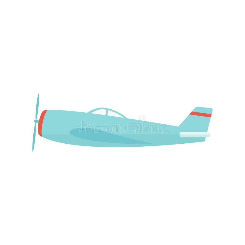 Privé lichte of kleine militaire vliegtuigen in de vlucht vector vlakke vector royalty-vrije illustratie