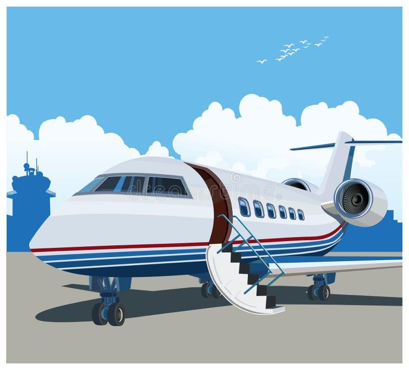 Privé luchtvaart royalty-vrije illustratie
