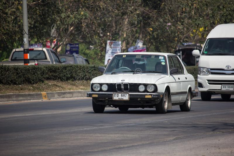 Privé Oude BMW-Auto 3 reeksen stock afbeelding
