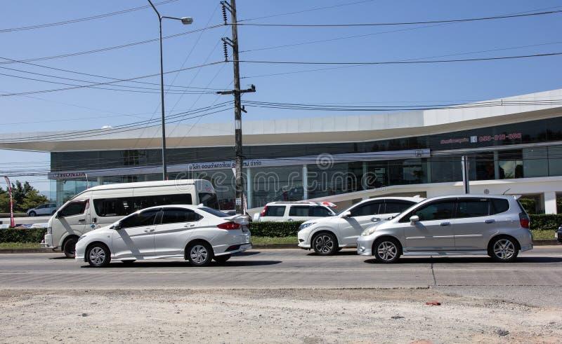 Privé stadsauto Honda Jazz De auto van de vijf deurvijfdeursauto stock foto