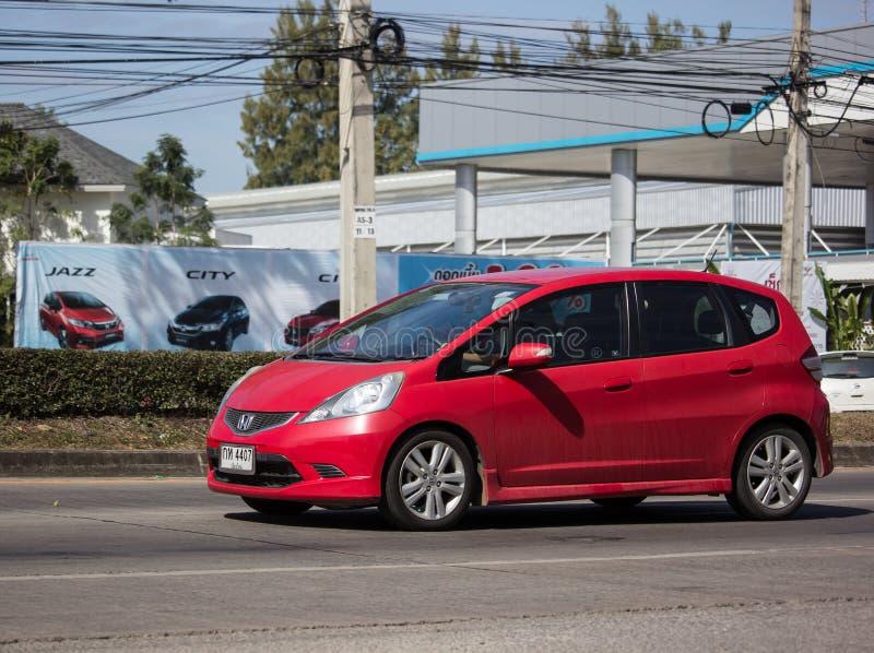 Privé stadsauto Honda Jazz Hatchback royalty-vrije stock foto