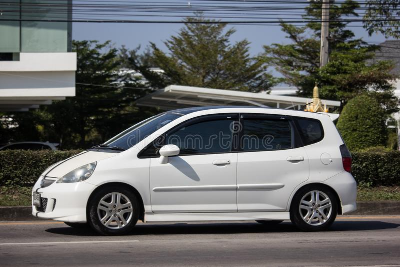Privé stadsauto Honda Jazz Hatchback stock afbeelding