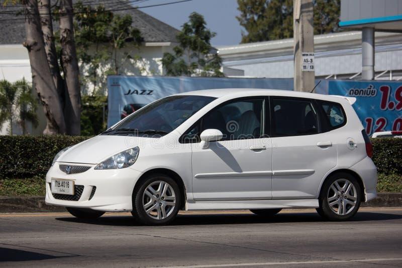 Privé stadsauto Honda Jazz Hatchback royalty-vrije stock afbeeldingen