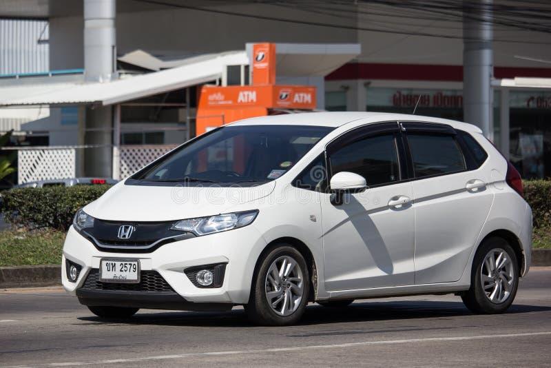 Privé stadsauto Honda Jazz Hatchback stock foto