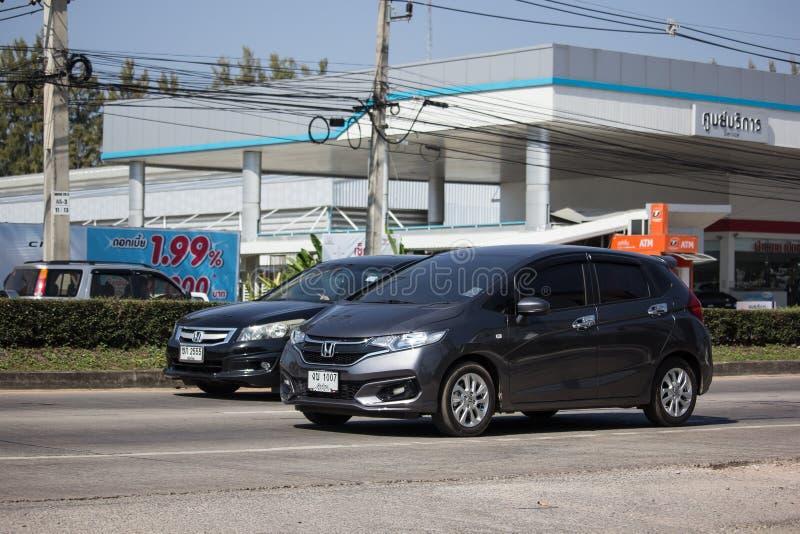 Privé stadsauto Honda Jazz Hatchback stock foto's
