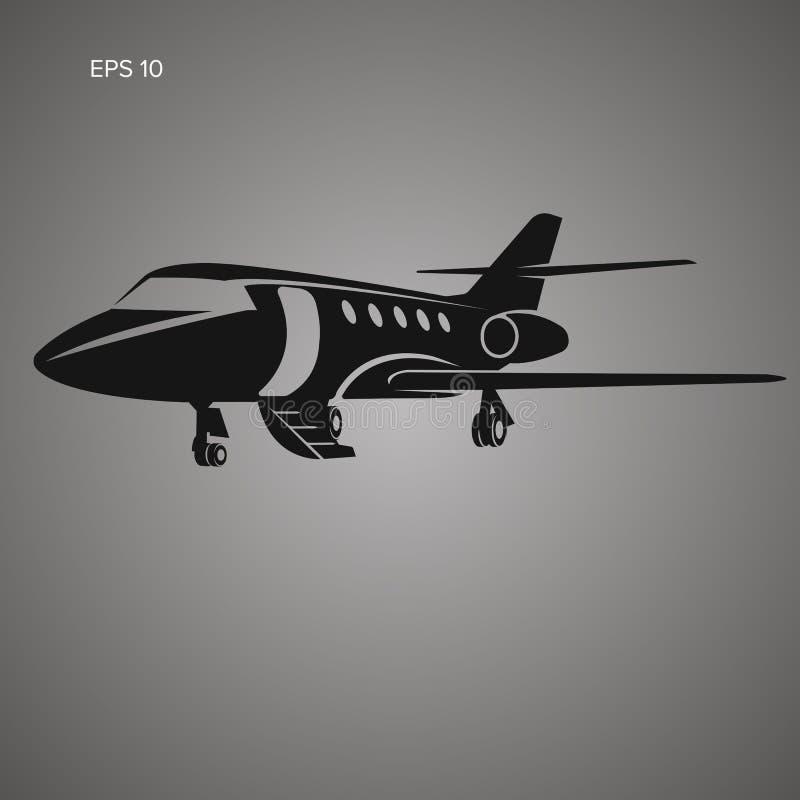 Privé straal vectorpictogram Bedrijfs straalillustratie royalty-vrije illustratie