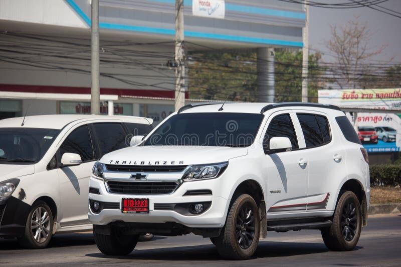 Privé SUV-auto, Chevrolet-Trailblazer stock fotografie