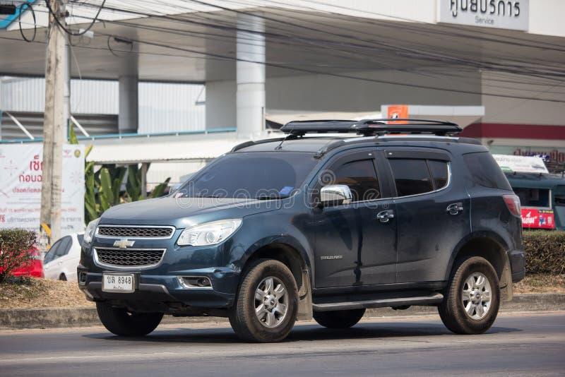 Privé SUV-auto, Chevrolet-Trailblazer royalty-vrije stock foto