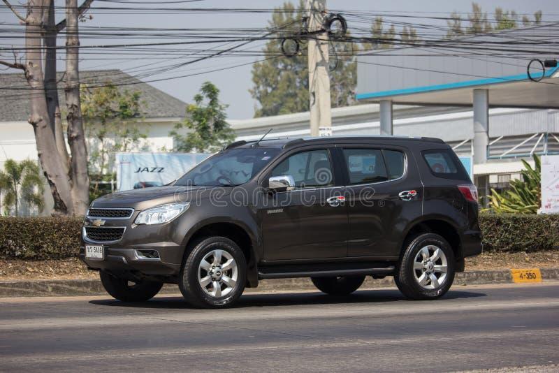 Privé SUV-auto, Chevrolet-Trailblazer stock foto's