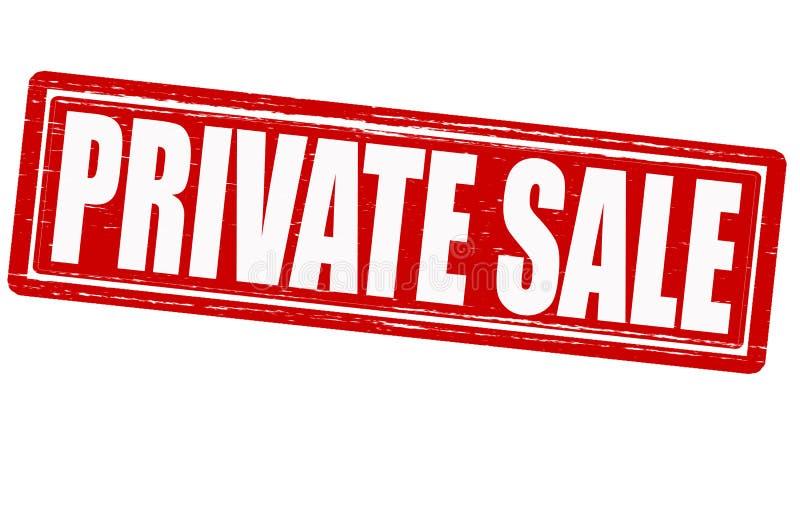 Privé verkoop royalty-vrije illustratie