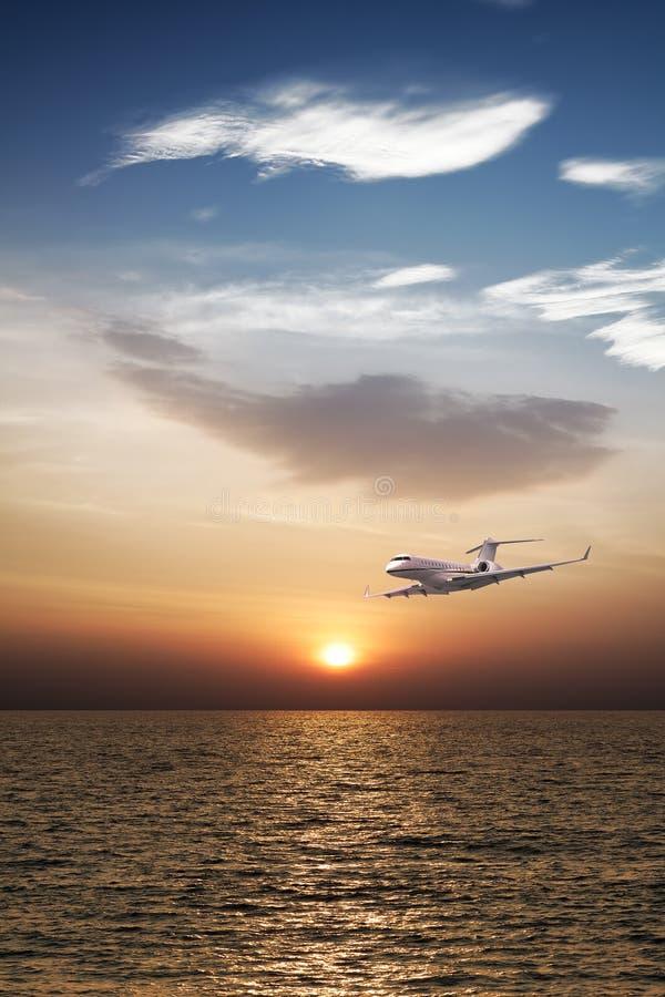 Privé vliegtuig stock foto