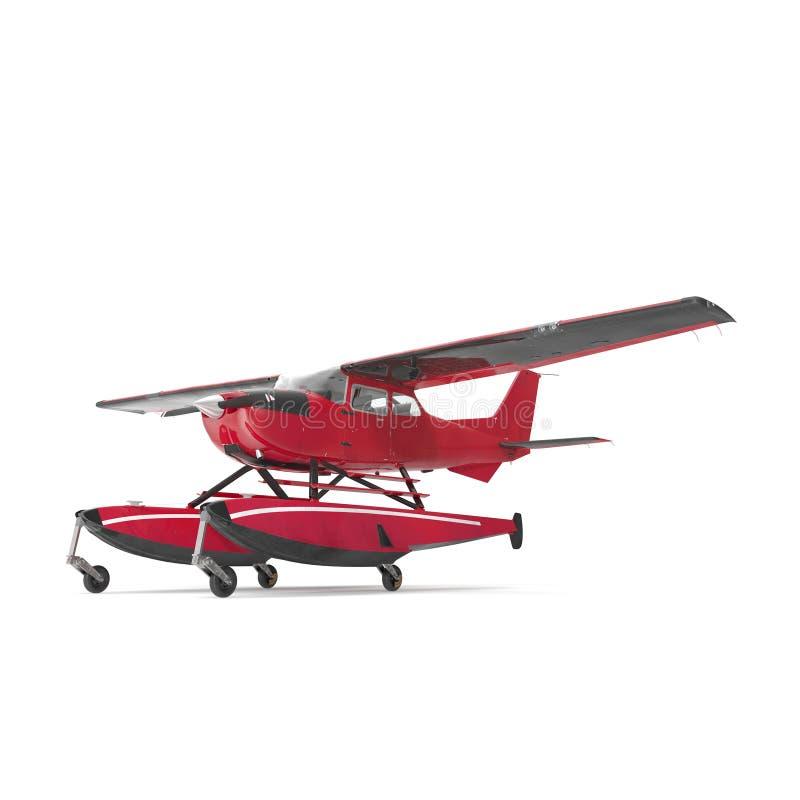 Privé Watervliegtuig op wit 3D Illustratie royalty-vrije illustratie