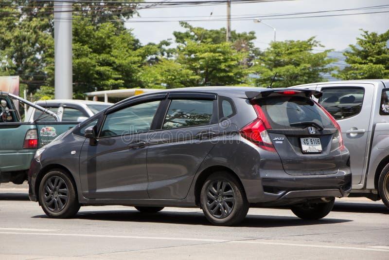 Priv? stadsauto Honda Jazz Hatchback royalty-vrije stock afbeelding