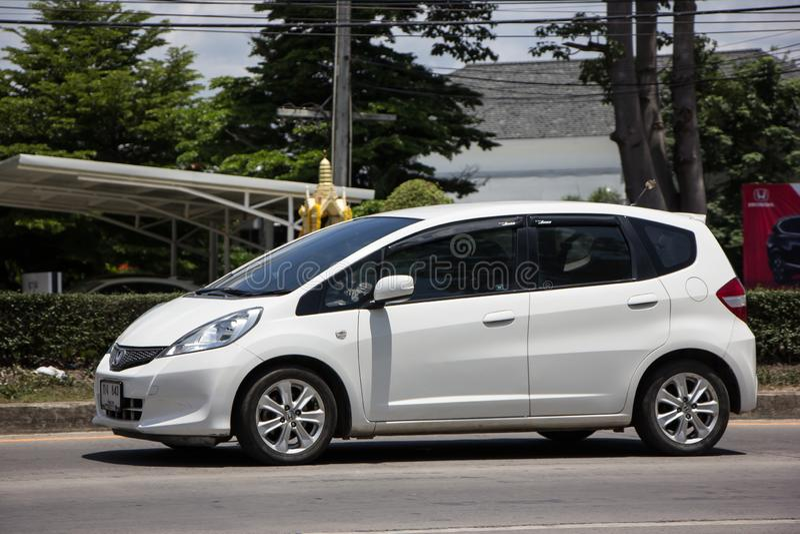 Priv? stadsauto Honda Jazz Hatchback stock foto's