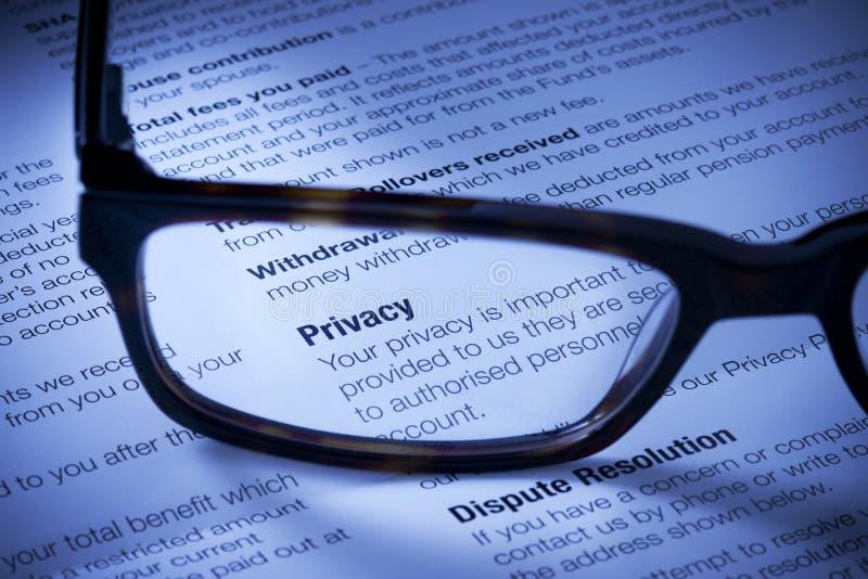 Privacidade imagens de stock