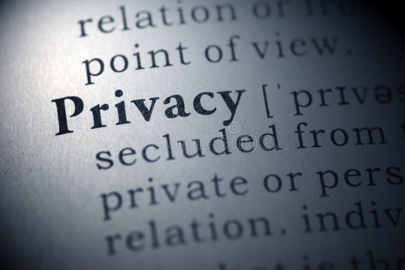 Privacidade imagem de stock