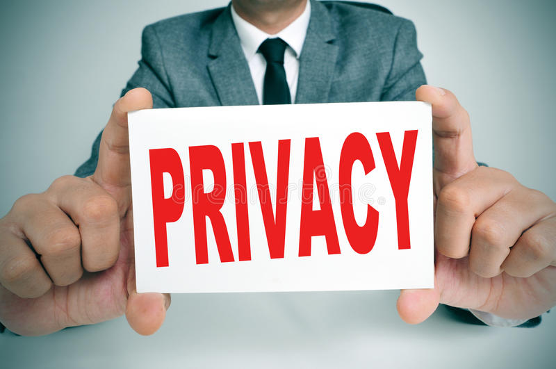 privacidade fotografia de stock