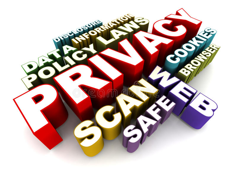 Privacidade da pessoa ilustração stock