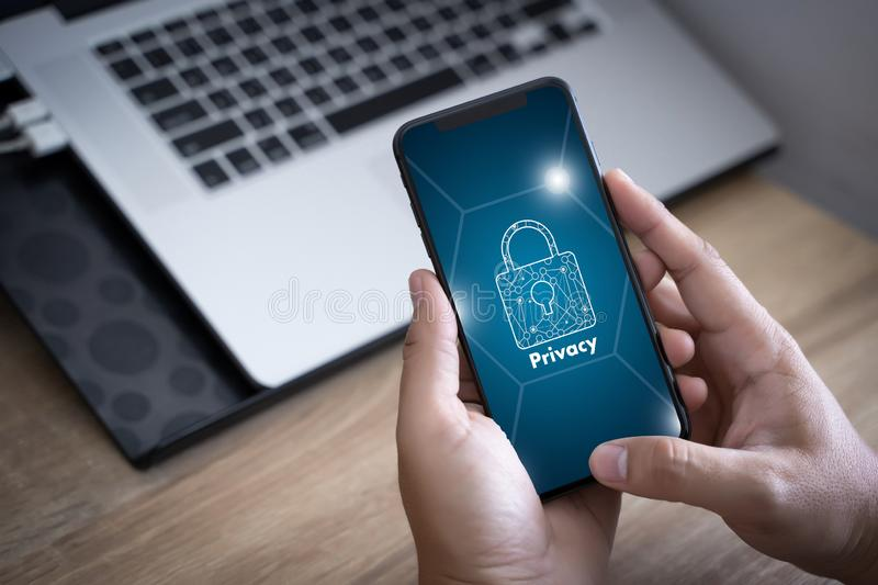 Privacy Access Identification Password Passcode and Privacy royalty free stock images