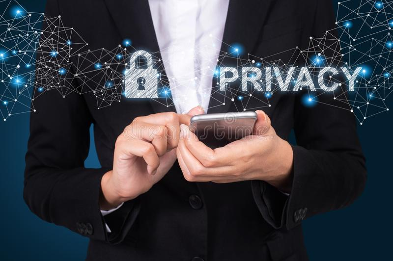 Privacy Access Identification Password Passcode and Privacy. royalty free stock photo