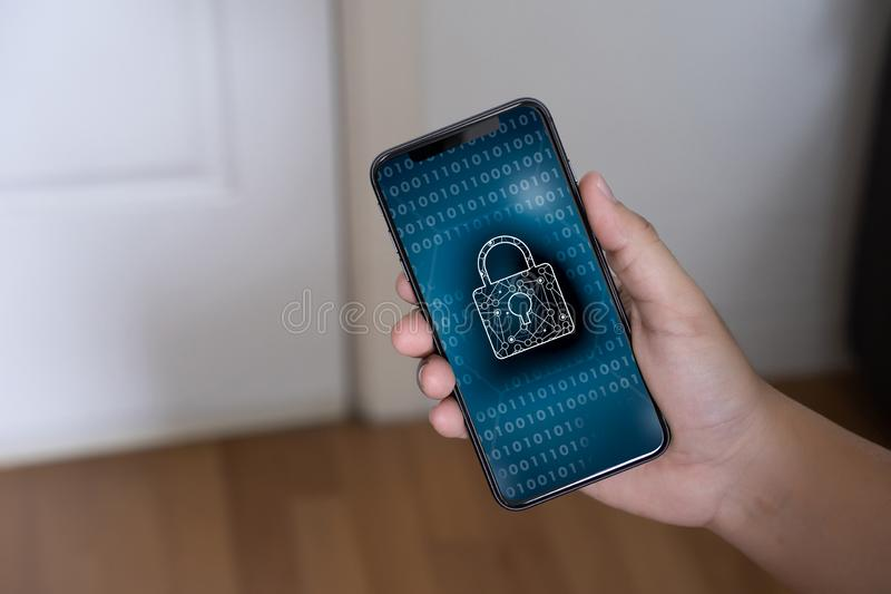 Privacy Access Identification Password Passcode and Privacy royalty free stock image