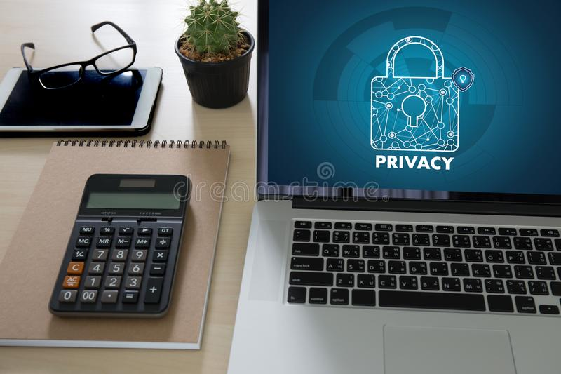 Privacy Access login PERFORMANCE Identification Password Passcode and Privacy stock image