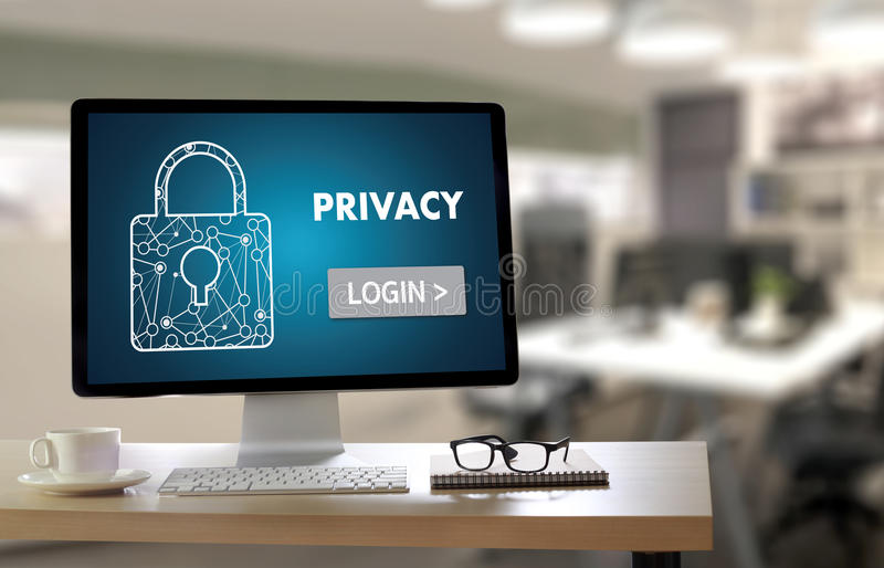 Privacy Access login PERFORMANCE Identification Password Passcode and Privacy royalty free stock photography