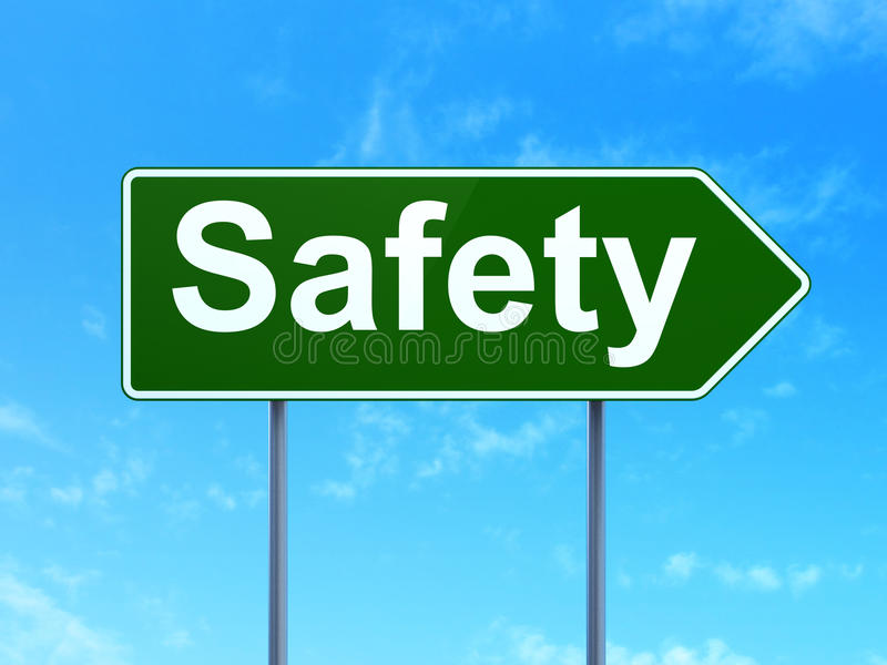 Privacy concept: Safety on road sign background royalty free illustration