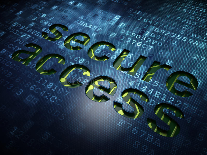 Privacy concept: Secure Access on digital screen royalty free illustration