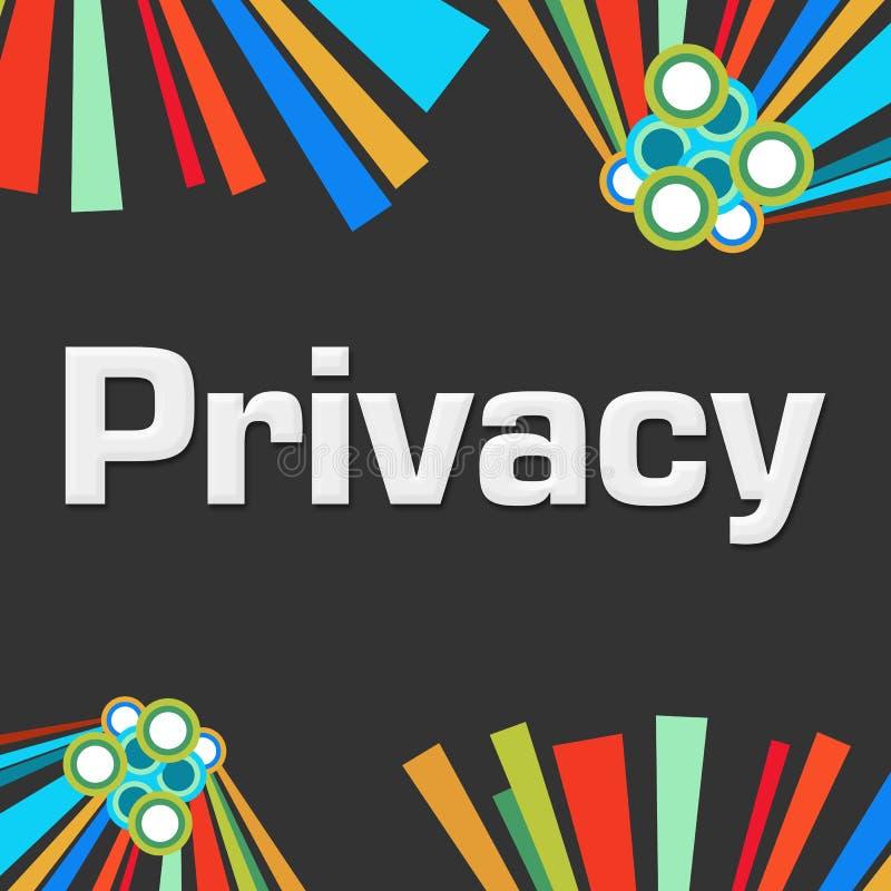 Privacy Donkere Kleurrijke Elementen vector illustratie