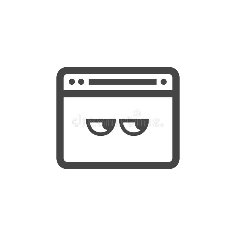 Privacy mode icon with security feature and eyes. Privacy mode icon with security feature stock illustration