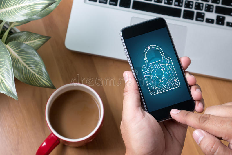 PRIVACY POLICY Private Security Protection) stock illustration