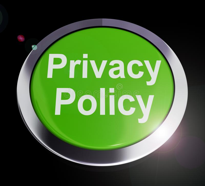 Privacy policy or statement of intent for data protection directive - 3d illustration. Privacy policy or statement of intent for data protection directive vector illustration