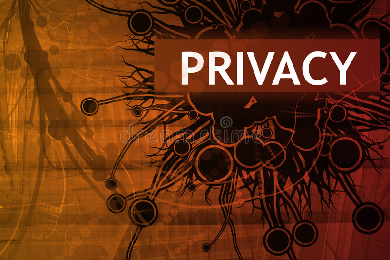 Privacy Security Alert stock illustration