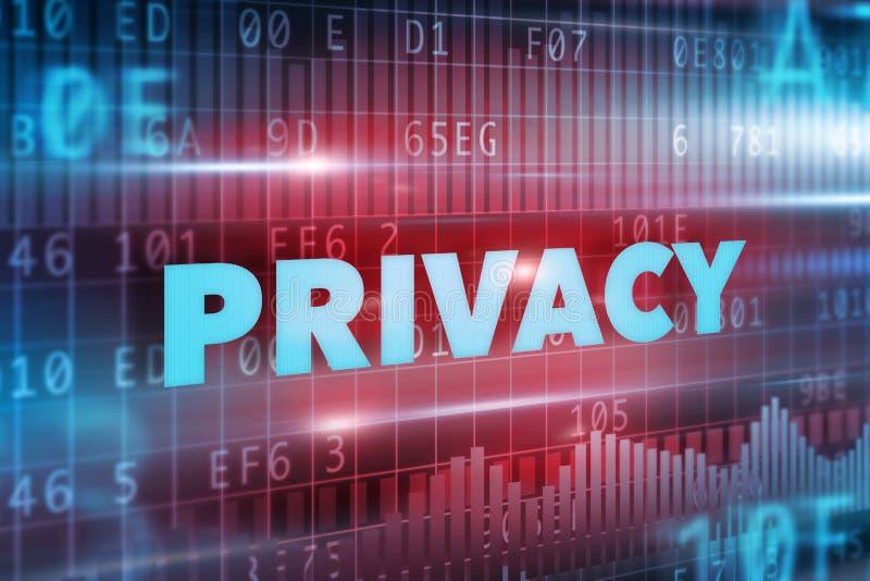 Privacy van persoon stock foto
