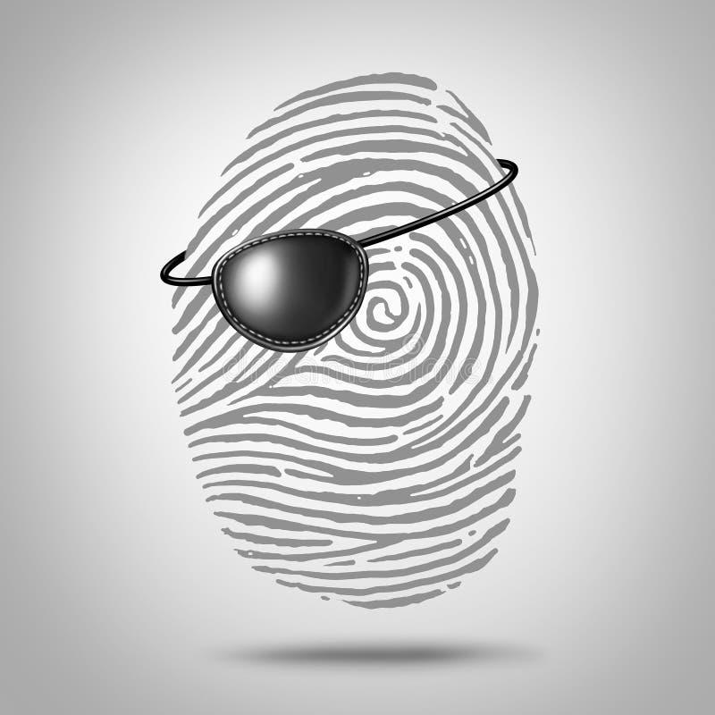 Privacypiraterij royalty-vrije illustratie
