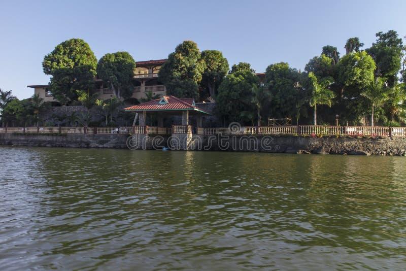 Privat ö i sjön av Nicaragua arkivfoton