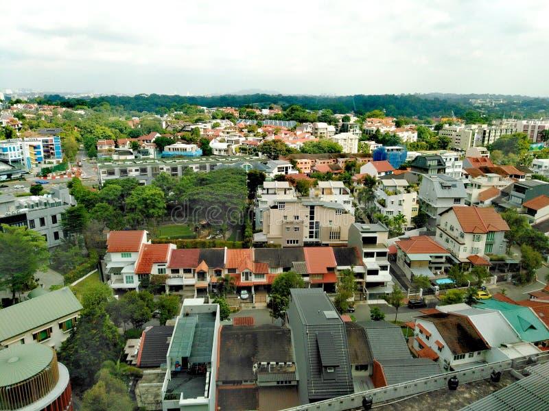 Privat bostadsområde i Novena, Singapore arkivfoton