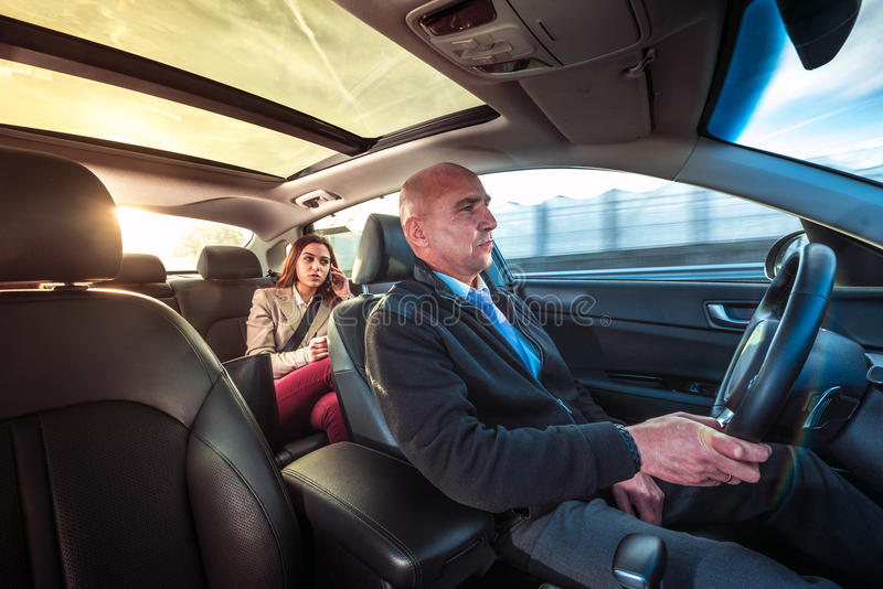 Privat chaufför royaltyfri foto