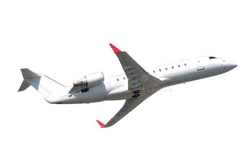 Privat dżetowy samolot odizolowywający na białym tle zdjęcia royalty free