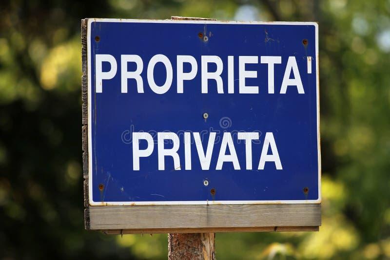 privat egenskap royaltyfri bild