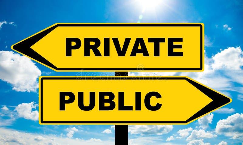 Privat eller offentligt royaltyfri foto
