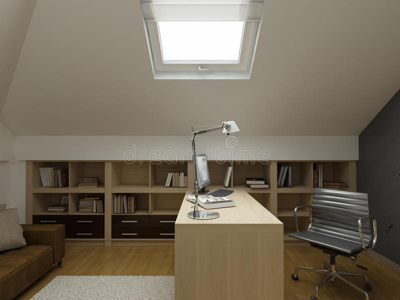 privat för designen för lägenheten 3d framför inre modern royaltyfri illustrationer