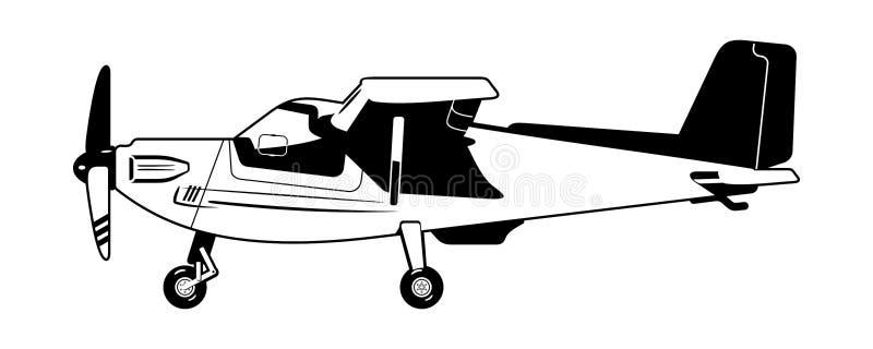 Privat flygplan stock illustrationer