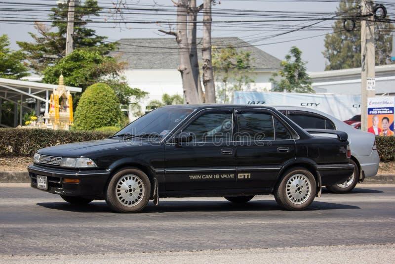 Privat gammal bil, Toyota Corolla royaltyfria bilder